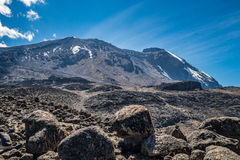 Kilimanjaro view from Machame route trail. Kilimanjaro view from Machame route Royalty Free Stock Photography