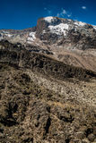 Kilimanjaro view from Machame route. Trail Royalty Free Stock Photo
