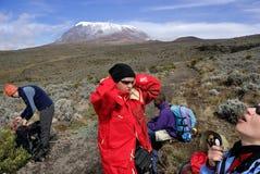 Kilimanjarotop Royalty-vrije Stock Afbeeldingen