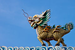 Kilin of Chinese fables. With the body of a horse and the head of a dragon stock image