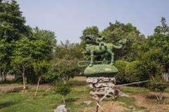 Kilin Songzi rzeźba w Xuanwu jeziora parku fotografia stock