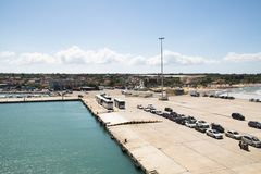 Ferry port of Kilini, Greece Stock Photography