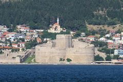 Kilitbahir Castle in Canakkale Royalty Free Stock Photography