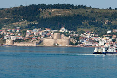 Kilitbahir Castle in Canakkale,Turkey. The view from Asia on Europe Stock Images
