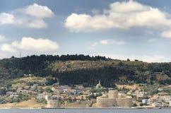Kilitbahir Castle and Kilitbahir Village, Canakkale, Turkey Royalty Free Stock Photo
