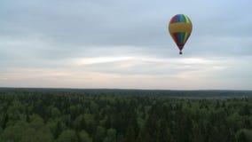 Kilka barwiący balony wzrasta nad drzewnymi wierzchołkami zbiory wideo