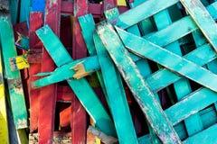 Kilka barwioni ogrodzenia Obraz Stock