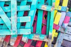 Kilka barwioni ogrodzenia Zdjęcie Royalty Free