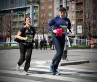 Milano miasta maraton Zdjęcie Stock