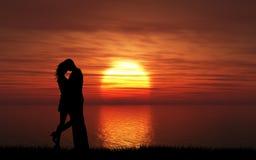 kilka całowania słońca Zdjęcie Stock