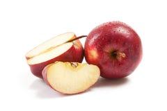 Kilka czerwoni jabłka na bielu zdjęcie royalty free