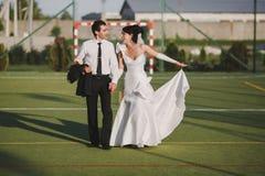 kilka dni ubranie szczęśliwy roczna ślub Zdjęcia Royalty Free