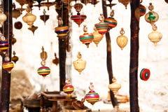 Kilka drewniani przędzalniani wierzchołki Obraz Royalty Free