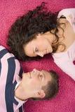kilka dywanowi leżącego różowego young Fotografia Stock