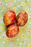 Kilka farbujący jajka zdjęcie royalty free