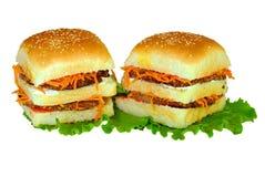 Kilka hamburgery fotografia stock