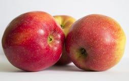 Kilka jesieni czerwieni jabłka fotografia stock