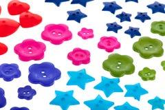 Kilka kolorowi guziki Obraz Stock