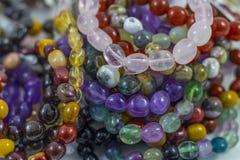 Kilka Piękne Krystaliczne bransoletki Obraz Stock