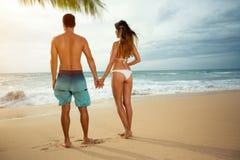 kilka plażowej romantyczne słońca zdjęcia royalty free