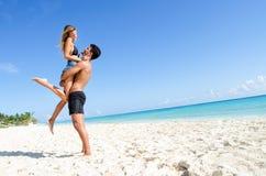 kilka plażowej szczęśliwe młode obrazy royalty free