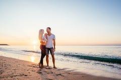 kilka plażowy kochać Obrazy Royalty Free