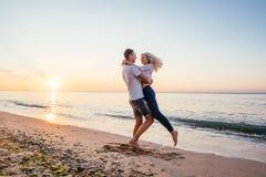 kilka plażowy kochać Zdjęcia Stock