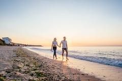 kilka plażowy kochać Fotografia Royalty Free