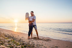 kilka plażowy kochać Fotografia Stock