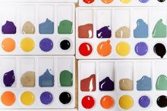 Kilka sety z barwić farbami dla rysować obraz royalty free
