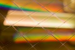 Kilka Silikonowi opłatki z mikroukładami - opłatek jest cienkim plasterkiem półprzewodnika materiał tak jak krystaliczny, zdjęcia royalty free