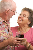 kilka szczęśliwy starszy wznieść toast Zdjęcia Royalty Free