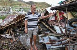 Kilka tysięcy lewy bezdomny w następstwie tajfunu Haiyan Obraz Royalty Free