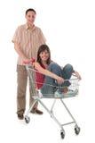 kilka wózka na zakupy Zdjęcia Royalty Free