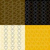 Kilka wzory z sercami Zdjęcie Royalty Free