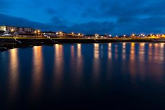 Kilkee at Dusk. Kilkee town in West Clare during twilight Royalty Free Stock Image