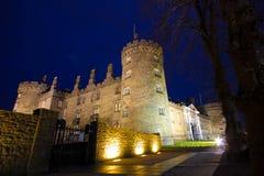 Kilkenny Castle. Medieval castle at night in Kilkenny Ireland Royalty Free Stock Photography
