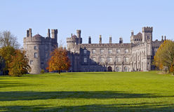 Kilkenny Castle and park. View to Kilkenny Castle from park in autumn Stock Photography