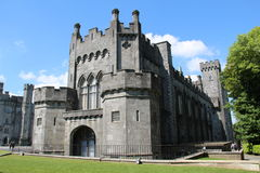 Kilkenny Castle side View. In county Kilkenny Ireland with blue skies stock photography