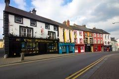 Kilkenny Ireland. KILKENNY, IRELAND - MAR 28: Row of colorful buildings in Kilkenny Ireland on Mar 28, 2013. This popular travel destination has origins lay in Royalty Free Stock Photos