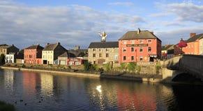 Kilkenny på floden Nore Arkivbild