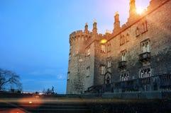 Kilkenny slott och trädgårdar i höst - Irland Arkivfoton