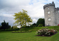 Kilkenny slott Rose Garden Royaltyfri Fotografi