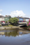 Kilkenny town and bridge in reflection Royalty Free Stock Photos
