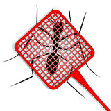 Kill ant. Ant trapped with a paddle Stock Images