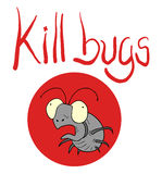 Kill bugs icon Royalty Free Stock Photography