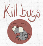 Kill bugs icon Royalty Free Stock Images