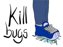 Kill bugs illustration Stock Photo