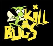 Kill bugs symbol. Creative design of kill bugs message Stock Images