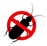 Kill Cockroach Insect Sign Stock Photography